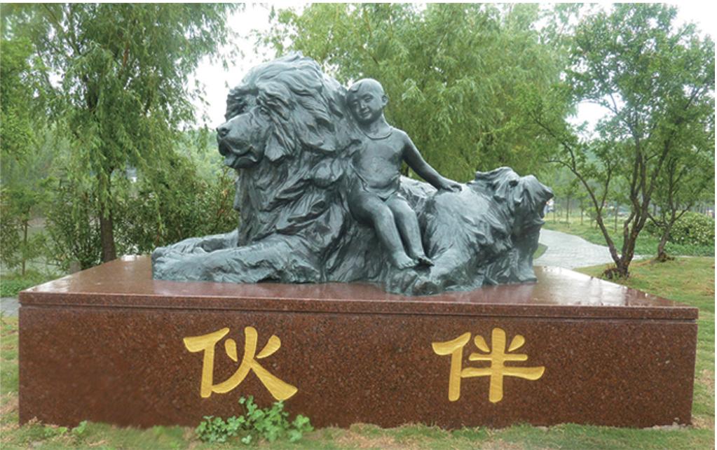 农业学院也有多组动物雕塑