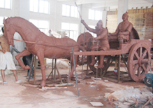 华派制作三国公园泥塑