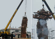 华派天柱山风景区施工大型标识性雕塑