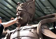 二郎神雕塑——塑形中。