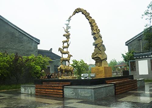 《消失的影子》江苏畜牧科技园动物积木雕塑