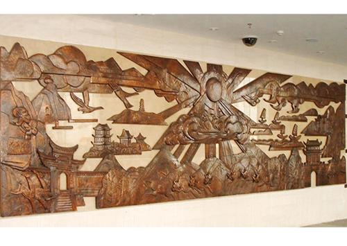 巢湖行政中心室内紫铜浮雕