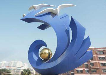 《搏》-合肥巢湖一中校园雕塑