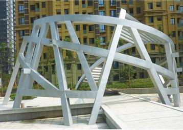 《鸟巢》-合肥九龙湾景观雕塑