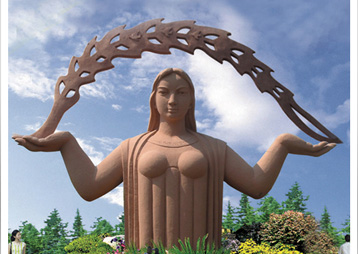 《大地母亲》安徽宁国木屋村主题雕塑