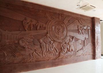 《滁州消防雕塑主题性浮雕墙》—安徽华派雕塑