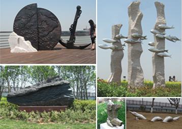 《安徽芜湖滨江花园》-雕塑景观工程