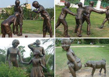 《明光市民公园》-人物雕塑景观工程