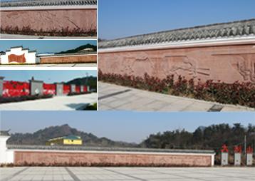 霍山淠西广场浮雕——红色文化旅游