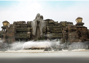 江苏常州春秋公园——假山与人物亚博yabo下载
