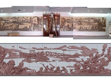 安徽省武警总队大型浮雕—华派雕塑制作