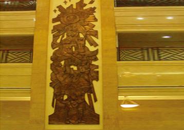 非洲科特迪瓦议员大厦雕塑——铜雕