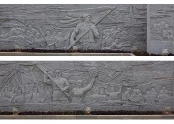 广东东江纪念馆大型浮雕墙—安徽华派雕塑中标制作
