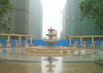 湖南湘潭:花钵、喷泉制作