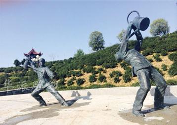 """霍山""""茶艺表演""""人物雕塑—茶文化"""