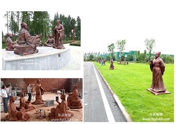 霍山九仙尊——名医人物雕塑