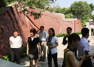合肥大蜀山公园——抗战纪念浮雕文化墙