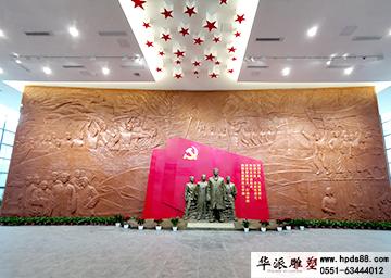 初心与使命馆——场景复原、壁画、雕塑布展及陈列。